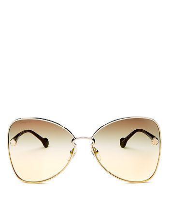 Salvatore Ferragamo Women S Fiore Oversized Butterfly Sunglasses 64mm Bloomingdale S