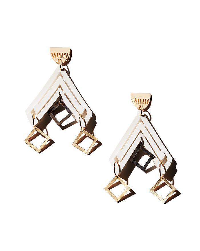 Flex Jewel - Rhombus Black Pine Drop Earrings - 100% Exclusive