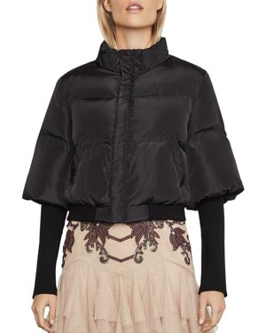 Bcbgmaxazria Quilted Cropped Puffer Jacket