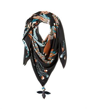 Rumisu - Graphic Silk Scarf