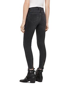... ALLSAINTS - Grace Zip-Hem Cropped Skinny Jeans in Washed Black 6a574ee508
