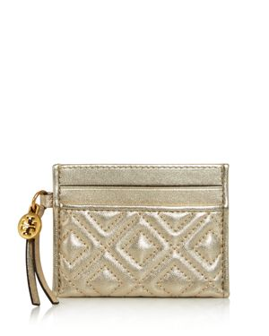 Tory Burch Fleming Metallic Card Case