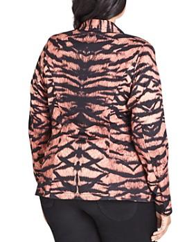 City Chic Plus - Tiger Print Blazer
