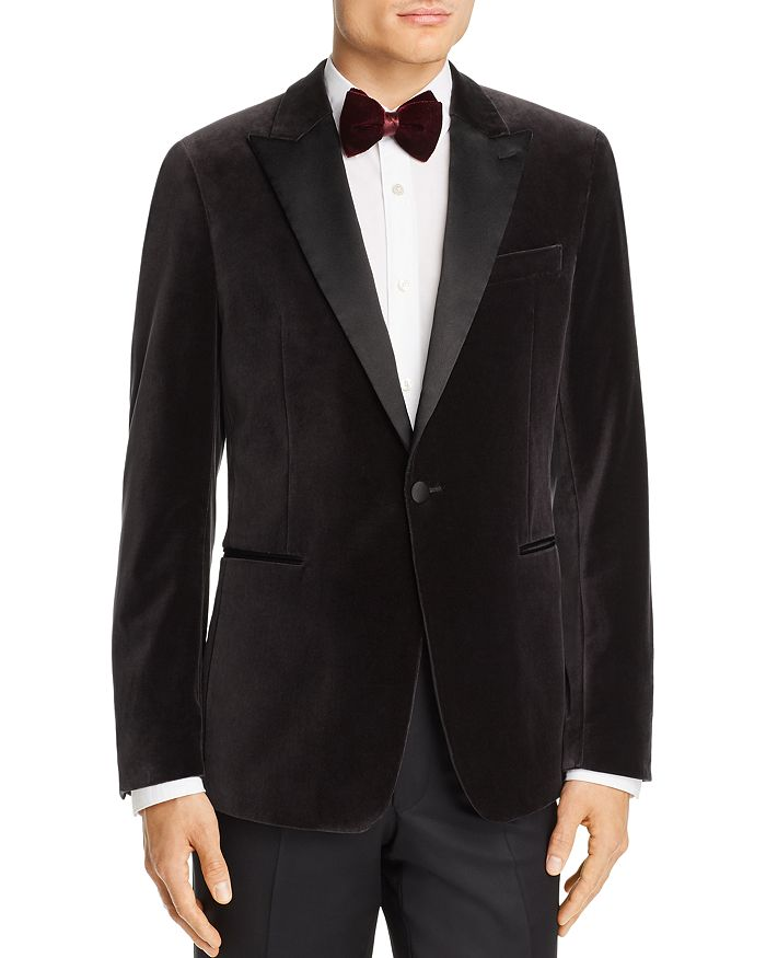 Theory - Chambers Velvet Slim Fit Tuxedo Jacket