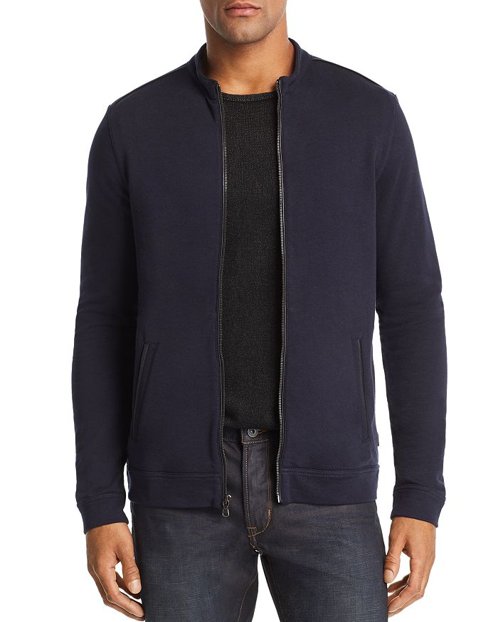 John Varvatos Star USA - Faux Leather-Trimmed Track Jacket - 100% Exclusive