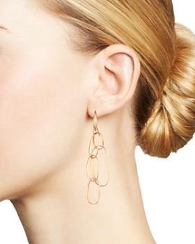 Pomellato - 18K Rose Gold Asymmetrical Chain Link Drop Earrings