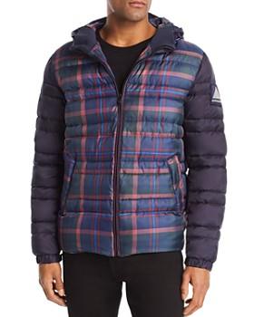 Scotch & Soda - Plaid Color-Block Puffer Coat