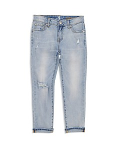 7 For All Mankind - Girls' Josefina Distressed Jeans - Little Kid