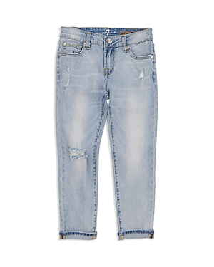 7 For All Mankind Girls Josefina Distressed Jeans  Little Kid
