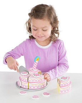 Melissa & Doug - Wooden Triple-Layer Party Cake - Ages 3+