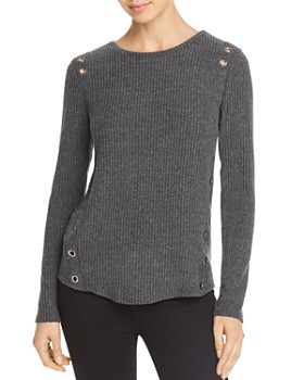 Generation Love - Gilly Grommet Rib-Knit Tee