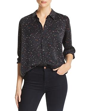Rails Kate Confetti Print Silk Shirt