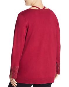 Love Scarlett Plus - Studded-Cuff Sweater - 100% Exclusive