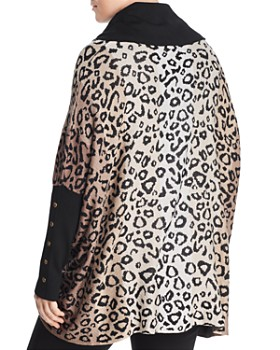Joseph A Plus - Leopard Jacquard Cowl-Neck Sweater