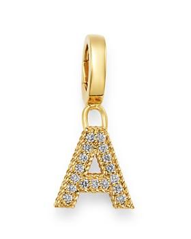 Roberto Coin - 18K Yellow Gold Diamond Initial Charm