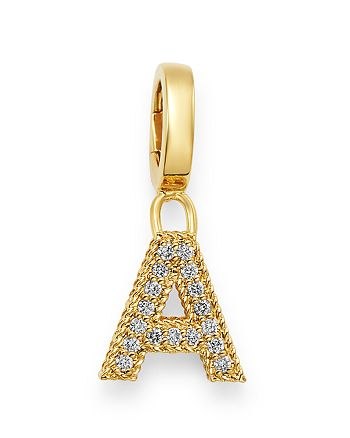 Roberto Coin - 18K Yellow Gold Diamond Initial Charm