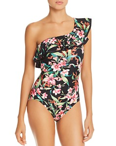 Carmen Marc Valvo - Ruffled One-Shoulder One Piece Swimsuit