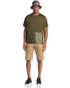 Moncler - Hawaiian Bucket Hat, Mixed-Media Tee & Bermuda Shorts