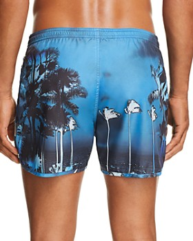 Neil Barrett - Sunset Palm Tree-Print Swim Shorts