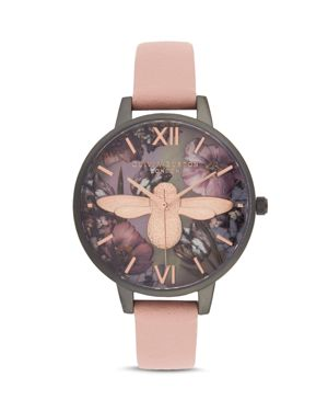Twilight Lilac Mother-Of-Pearl Watch, 34 Mm, Gray/Lilac