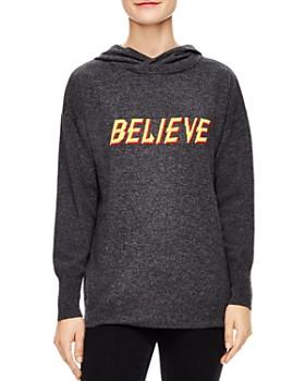 Sandro - Titi Wool & Cashmere Hooded Believe Sweater