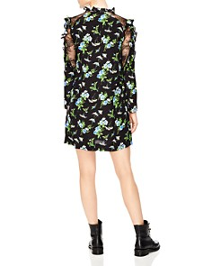 Sandro - Spirituelle Lace-Inset Ruffled Floral Dress