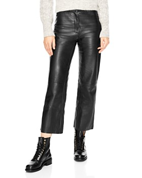 Sandro - Poésie Leather Crop Pants