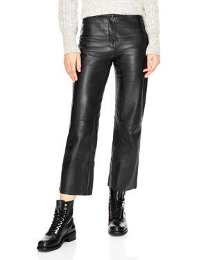 Sandro Poesie Leather Crop Pants