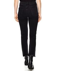 Sandro - Opéra High-Rise Frayed Straight-Leg Jeans in Black