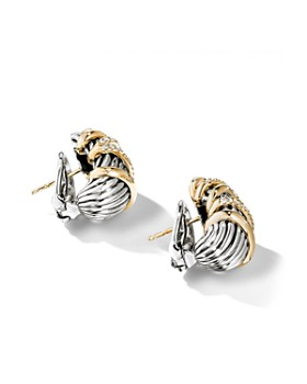 David Yurman - Helena Shrimp Earrings with 18K Yellow Gold & Diamonds