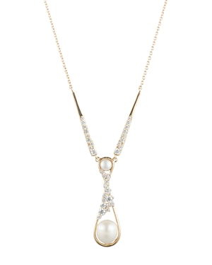 Carolee Cultured Freshwater Pearl Lariat Necklace, 16