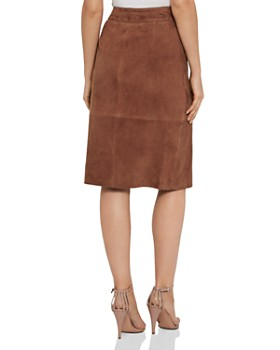 REISS - Milly Suede Wrap Skirt