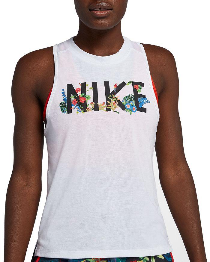 Nike - Miler Floral Racerback Running Tank