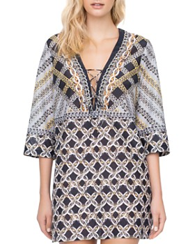 8323190977886 Gottex - Chains of Gold Swim Cover-Up ...