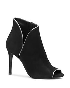 MICHAEL Michael Kors - Women's Harper Metallic Trim High-Heel Booties