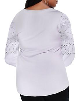 Belldini Plus - Studded Long Sleeve Top
