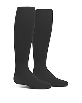 Ralph Lauren - Girls' Microfiber Black Tights, 2 Pack - Baby