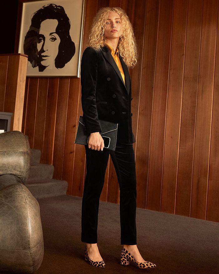 Theory - Velvet Tuxedo Jacket, Rebecca Minkoff Leather Clutch & More