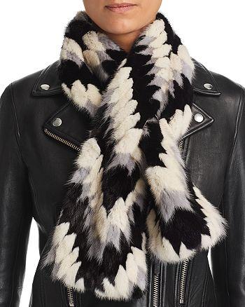 Maximilian Furs - Patterned Mink Fur Scarf - 100% Exclusive