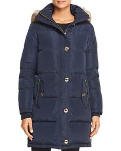 MICHAEL Michael Kors - Faux Fur Trim Puffer Coat