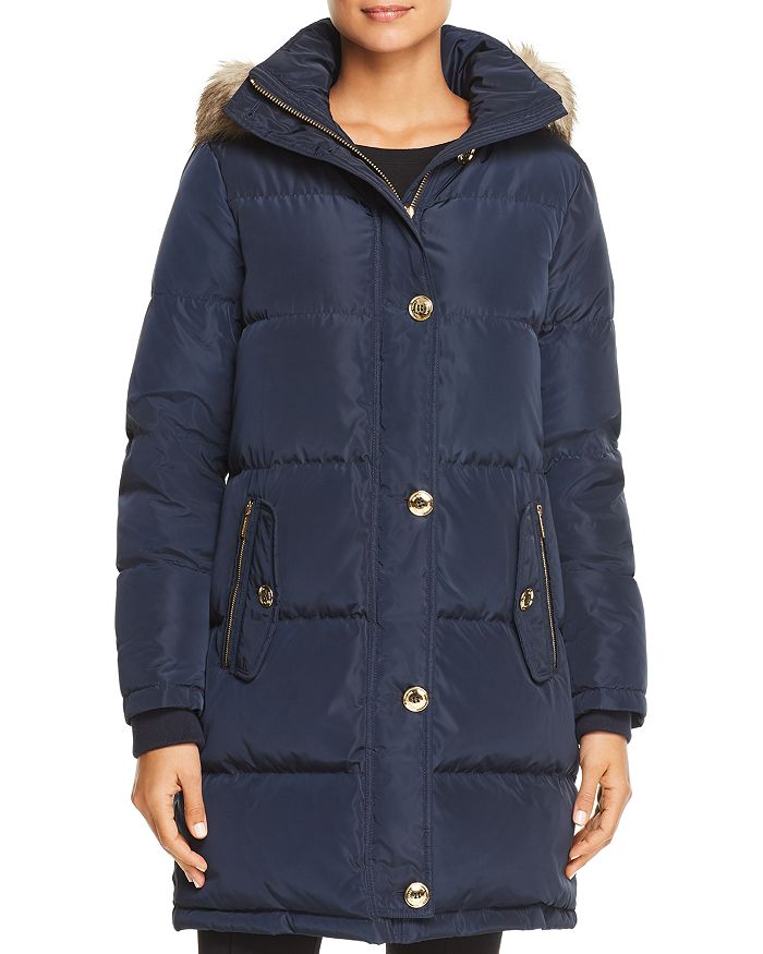 fa28dbd62 MICHAEL Faux Fur Trim Puffer Coat