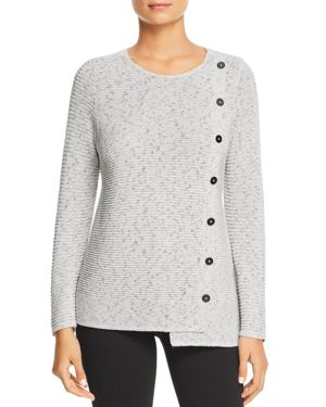 Nic+Zoe Shape Up Button Sweater