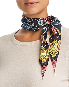 Rebecca Minkoff - City Floral Diamond Silk Scarf