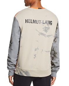 Helmut Lang - Color-Block Acid-Wash Sweatshirt