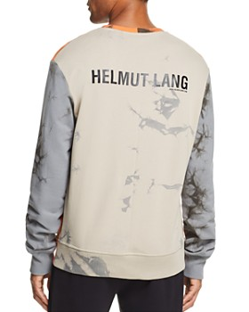 Helmut Lang - Color-Block Acid-Wash Sweatshirt