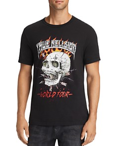 True Religion - Fire Skull Graphic Tee