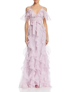 Alice McCall - Baby Love Ruffled Cold-Shoulder Gown