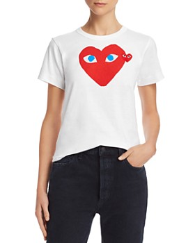 Comme Des Garcons PLAY - Red Heart Tee