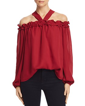 Sadie & Sage - Ruffled Off-the-Shoulder Blouse - 100% Exclusive