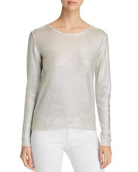 Majestic Filatures - Long-Sleeve Metallic Sweater